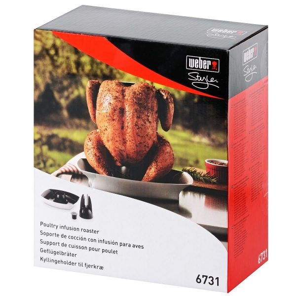 WEBER STYLE POULTRY INFUSION ROASTER