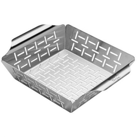 WEBER STYLE STAINLESS STEEL VEGETABLE BASKET